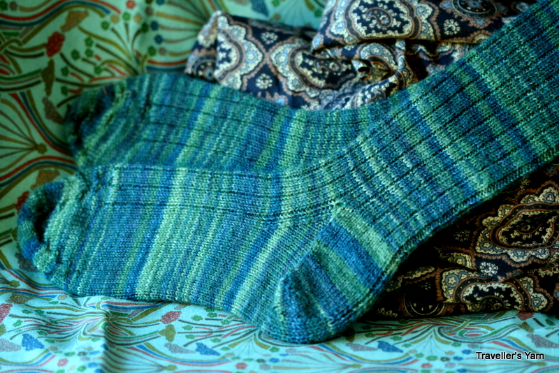 Lichen Ribbed Socks Travellers Yarn